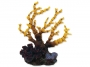 Dekorace AQUA EXCELLENT Mořský korál žlutofialový 12,5 x 8,1 x 1